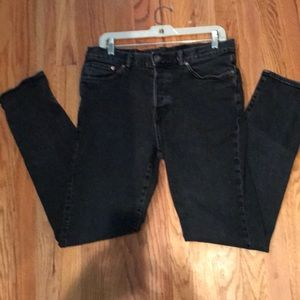 Black relaxed skinny tapered H&M jeans size 32x32